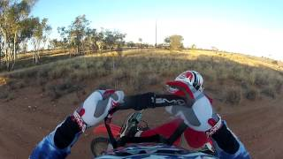 9. Enduro Spec - Test ride of Finke desert race Bike CRF450r