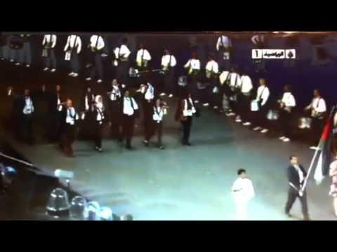 دخول البعثة الفلسطينية في عرض افتتاح أولمبياد لندن 2012