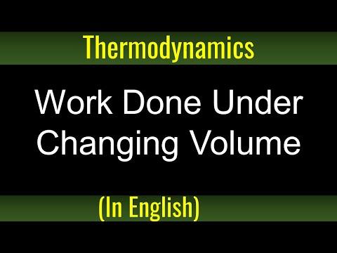 Physik: Thermodynamik - Irodov Problem 2 35 - Work in zunehmender Lautstärke getan