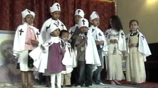 Kids Singing in Ethiopian Orthodox Church Oakland, CA 2010