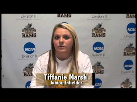 Framingham State Athlete of the Week- Tiffanie Marsh (Softball) April 25th, 2016