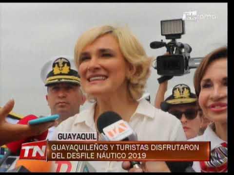 Guayaquileños y turistas disfrutaron del desfile Náutico 2019
