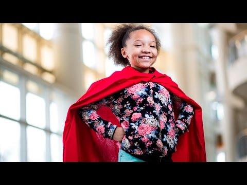 Pediatric heart patient Paige Sullivan embraces the spirit of giving