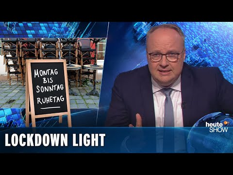 Erneuter Lockdown! Restaurants müssen schließen, die Schulen bleiben auf | heute-show vom 30.10.2020