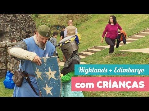 Vídeo das Highlands de motorhome e Edimburgo (Escócia)