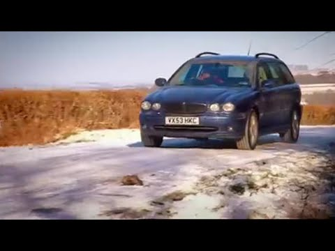 X Type in Snow -  Top Gear - BBC autos