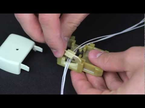 How to Restring a Comfortex Top Down - Bottom Up Cellular Honeycomb Shade