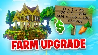 FARM UPGRADES! - Minecraft SKYBLOCK #7