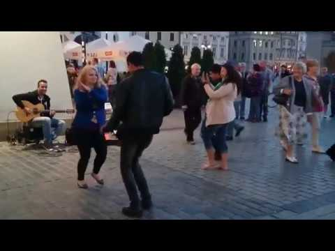 Amazing Street Guitar Performance by Imad Fares and Dancing Couple #dance #music #guitar #imadfares