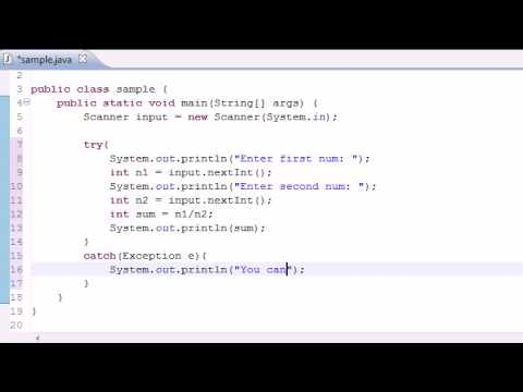 Java Programming Tutorial - 82 - Exception Handling