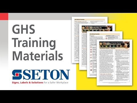How to Make GHS Training a Breeze with GHS Training Materials | Seton Video