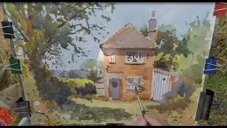 Watercolour demo How to Paint an abandoned Cottage