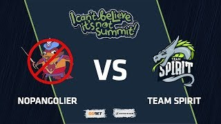 NoPangolier vs Team Spirit, Game 4, Grand Final, I Can't Believe It's Not Summit