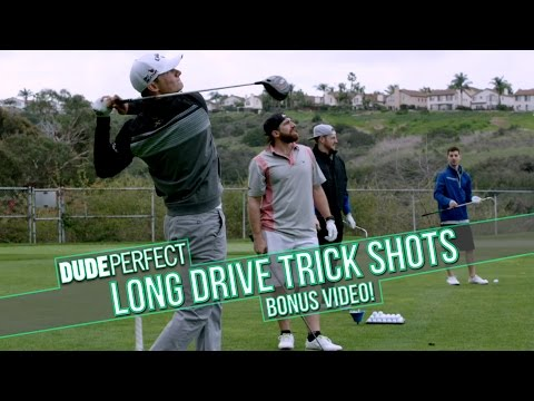 Dude Perfect: Long Drive Trick Shots BONUS Video