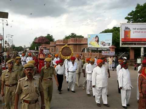 Teej Festival Bikaner Rajasthan,The Royal Procession of  Goddess Teej (Bikaner)