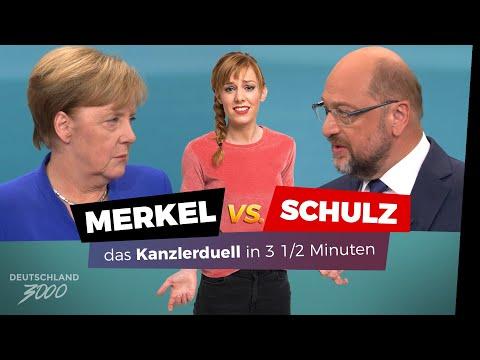 Merkel vs. Schulz - das Kanzlerduell in 3½ Minuten