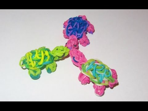 Rainbow Loom: TURTLE Charm: How to Tutorial