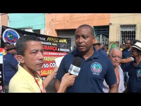 Entrevista com o presidente da APPMBA, Sgt PM Roque Santos, no desfile de 2 de Julho