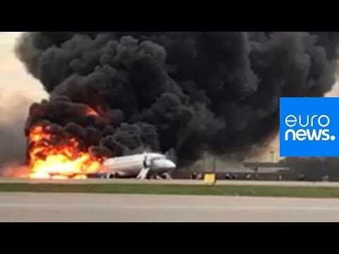 Russland: 41 Tote bei Flugzeugunglück in Moskau
