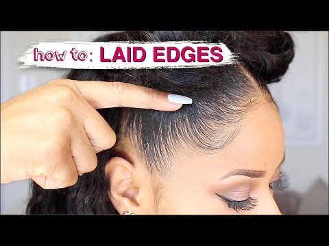 EDGES LAID TO THE GAWDSSS! ➟ how I slay my natural edges (видео)