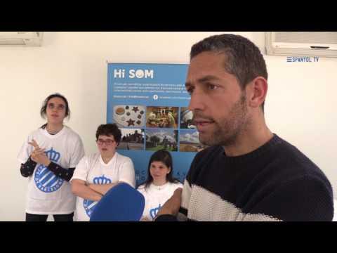 Watch videoEl RCDE con la Associació Hi Som