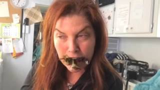 Rare footage of a dinosaur eating her lunch. Careful not to disturb her. ..