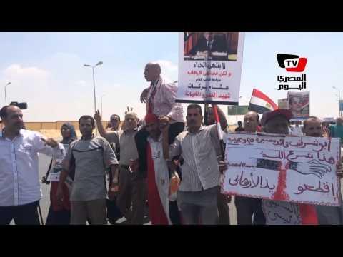 مظاهرة مؤيدة أثناء تشييع جنازة النائب العام: «الإخوان أعداء الله»