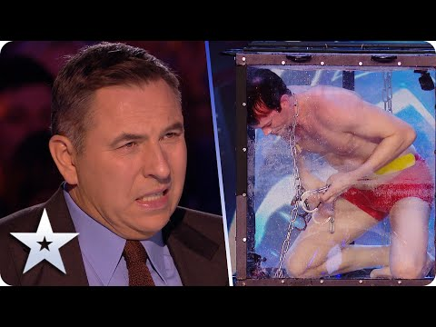 FEAR FACTOR! Christian Wedoy puts LIFE in Judges' hands in DANGEROUS escape! | Auditions | BGT 2020