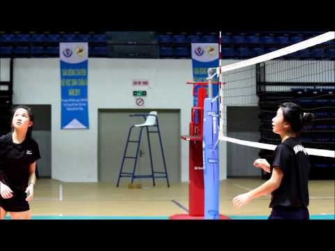 ASIAN School Girls Volleyball Championship 2011 -- Singapore team training