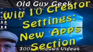 The latest Windows 10 Creators Update has moved the Apps section from the Systems section to it's own section.  In this video we're going to go over how to uninstall programs or reset them.What's left of the Control Panel desktop version doesn't show all installed programs, just the Desktop ones.  The new Apps section controls all types.