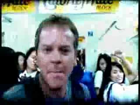 kiefer - Japanese TV commercial starring Kiefer Sutherland, playing who else but Jack Bauer. The direction of the commercial is even inspired in 24 (the show is big i...