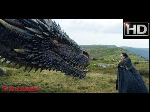 (Türkçe Altyazılı)Jon Snow Ejderhaya Dokunuyor! (Game of Thrones 7x5)