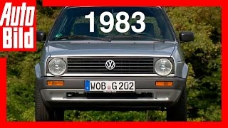 VW Golf 2 (1983) - Der Generations-Countdown / Test / Review by Auto Bild