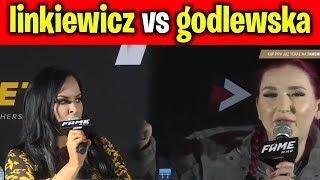 FAME MMA 3 - LINKIEWICZ vs GODLEWSKA - NAJLEPSZE AKCJE 2 KONFERENCJA