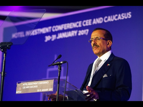 <span style='text-align:left;'>Businessman and philanthropist, Khalaf Ahmad Al Habtoor delivers keynote address at the Hotel Investment Conference CEE & Caucasus (HOTCO) held in Budapest, Hungary on 31 January 2017.  </span>