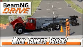 Milk Delivery for Busto! - BeamNG DRIVE - Crash Test Dummy Mod