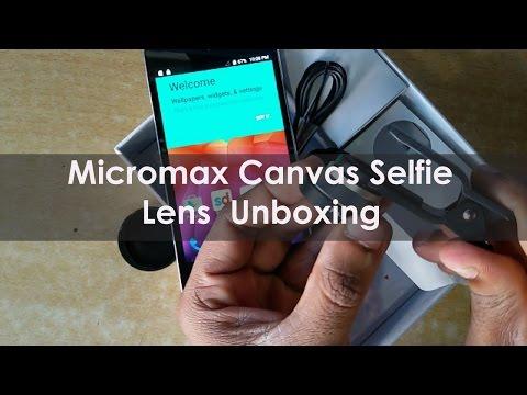 Micromax canvas selfie lens Unboxing