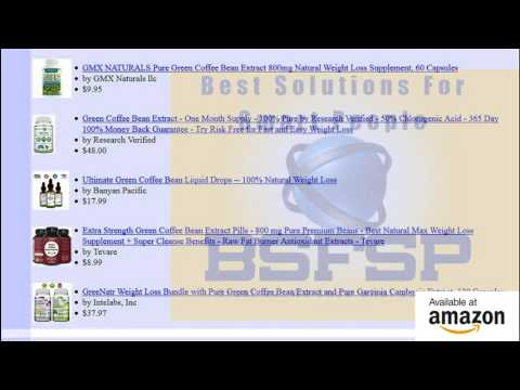 Top 20 100% Pure Green Coffee Bean Extract Review Or Weight Loss Products That Work Fast