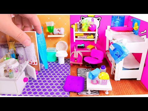 5 DIY Miniature Dollhouse Rooms (видео)