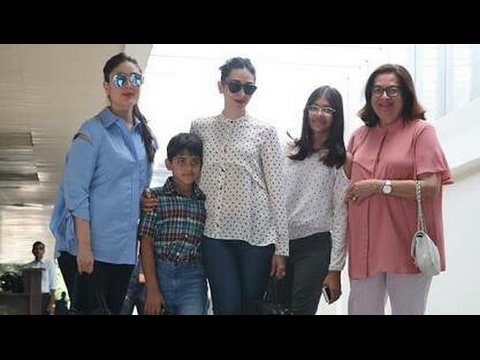 Video Kareena and Karisma Kapoor take their Mother Babita for Lunch | SpotboyE download in MP3, 3GP, MP4, WEBM, AVI, FLV January 2017