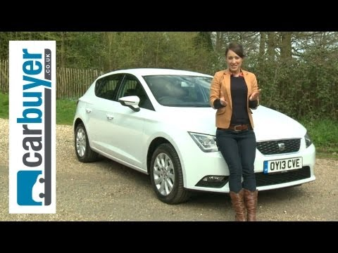 seat - SEAT Leon hatchback review here: http://bit.ly/ZKGNQA Subscribe to the CarBuyer YouTube channel: http://bit.ly/17k4fct The latest Leon blends a sporty drive,...