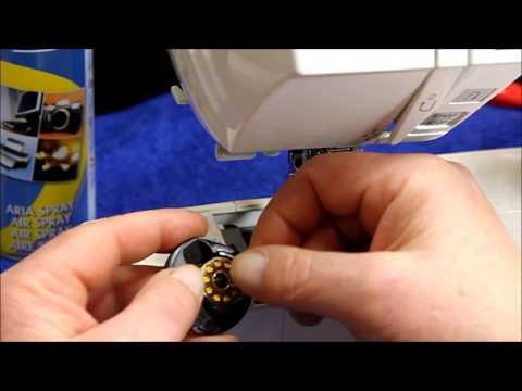 Manutenzione della macchina da cucire, pulizia del crochet rotativo e regolazione della tensione