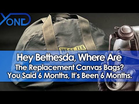 Hey Bethesda, Where Are The Replacement Canvas Bags? You Said 6 Months, It's Been 6 Months.