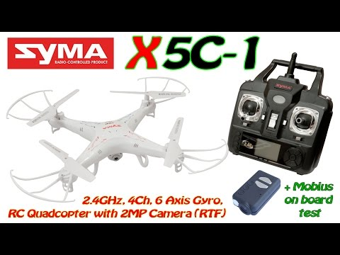 Syma X5c-1 2.4ghz, 4ch, 6 Axis Gyro, Rc Quadcopter With 2mp Camera (rtf) + Mobius