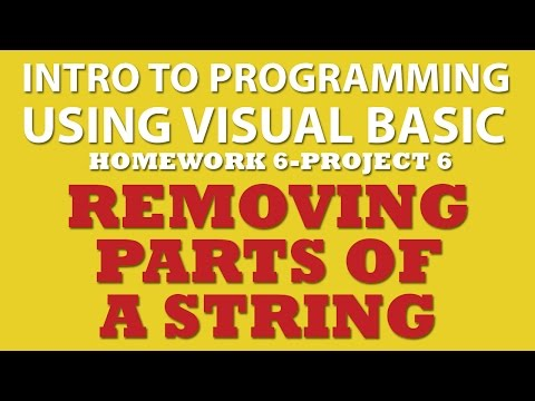 VB.net (Ex 6-pp6): String Manipulations (removing parts of the string)