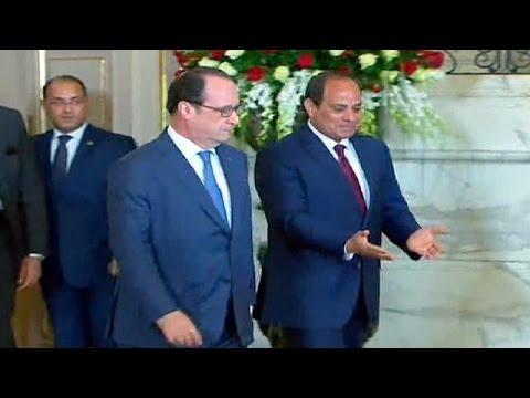 Αίγυπτος: Αιχμές Ολάντ κατά Σίσι για τα ανθρώπινα δικαιώματα
