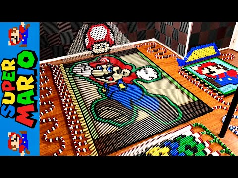 Mario in 24 000 dominoes