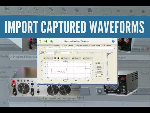 Captured waveform import