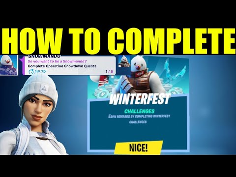 Complete Operation Snowdown quests - Fortinte Winterfest REWARDS 2020