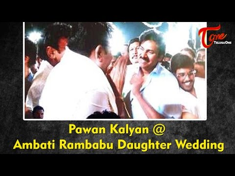 Pawan Kalyan at Ambati Rambabu Daughter Wedding